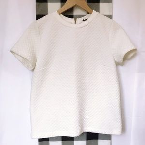 Topshop off white textured ponte top, Size  10
